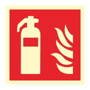 Bilde av Brannslukker - brannskilt med symbol