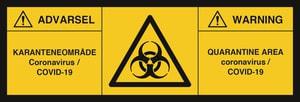 Bilde av Koronavirus - Smittevernskilt for biologisk fare 140x420mm