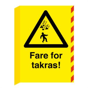 Bilde av Fare for takras L-skilt - Fareskilt med symbol og tekst