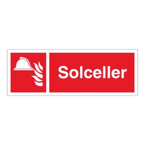 Bilde av Solceller - Brannskilt med symbol og tekst