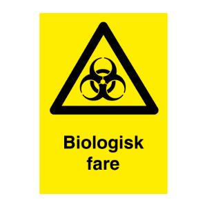 Bilde av Biologisk fare - Fareskilt med symbol og tekst