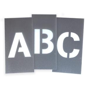 Bilde av Sjablonger i plast med bokstaver fra A til Å