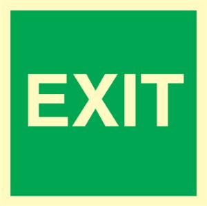 Bilde av EXIT skilt for merking av utgangsdører