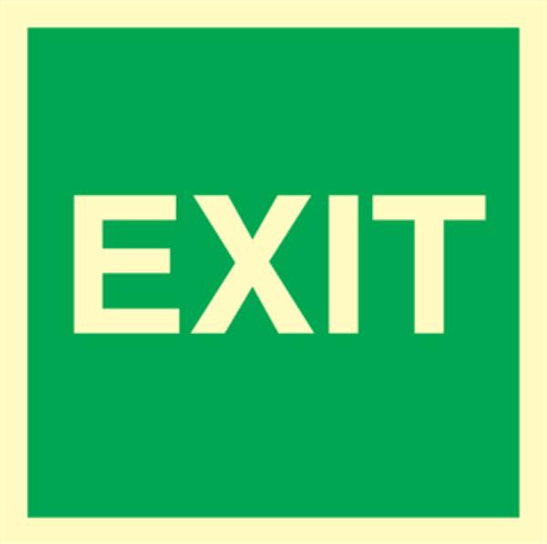 EXIT skilt for merking av utgangsdører