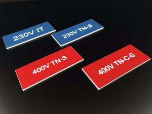 Bilde av Rimelige merkeskilt i plast 50 x 100 mm
