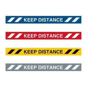 Bilde av Keep Distance gulvskilt 100 x 1000mm