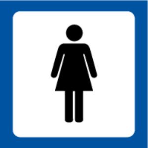 Bilde av Toalettskilt Damer med symbol