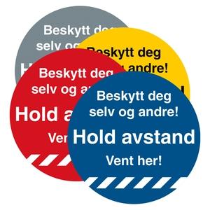 Bilde av Hold avstand Gulvskilt Ø330mm - Beskytt deg selv og andre!