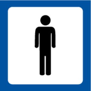 Bilde av Toalettskilt Herrer med symbol