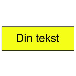 Bilde av Gravert skilt med din egen tekst - gult med sort tekst