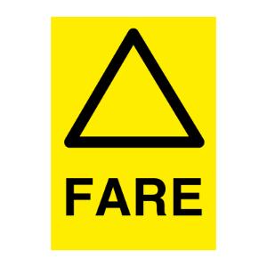 Bilde av Generell Fare - Fareskilt med symbol og tekst
