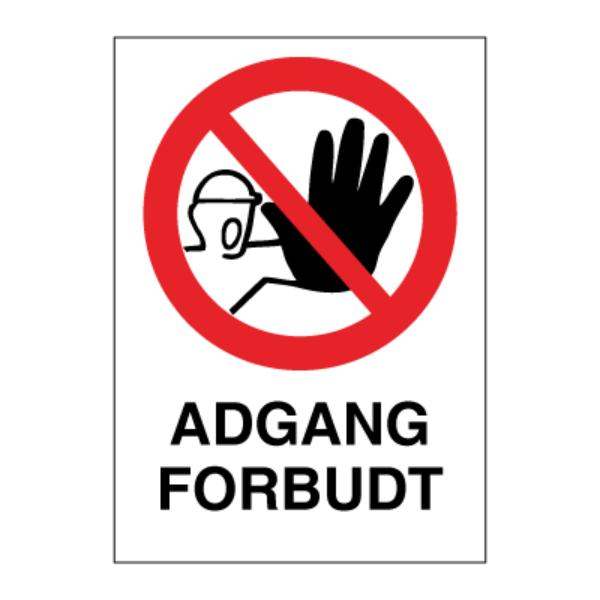 Adgang Forbudt - Forbudsskilt med symbol og tekst