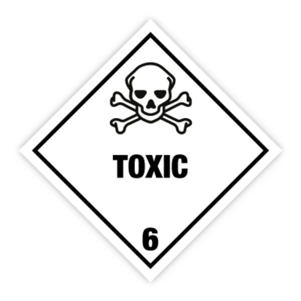 Fareseddel klasse 6.1 Giftig stoff