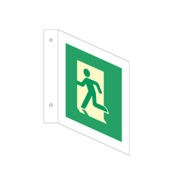 Nødutgangsskilt for rømningsvei - Plogskilt