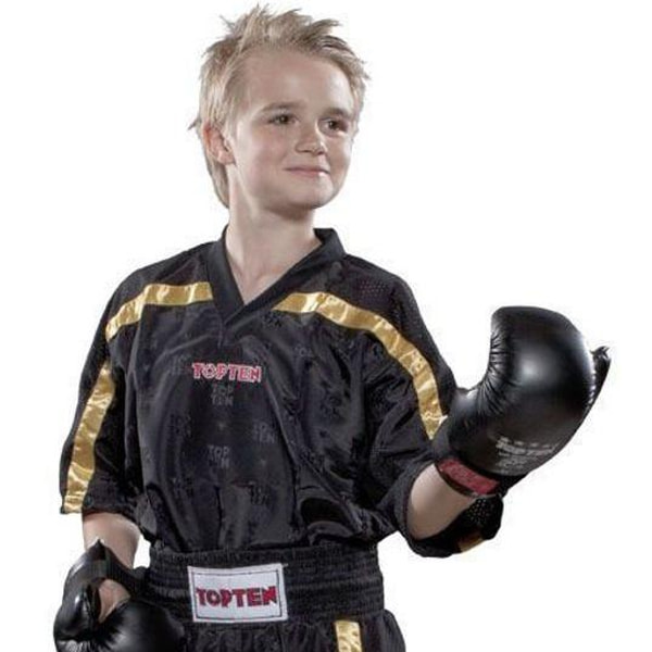 Bilde av TOP TEN Mesh Kickboxing Overdel - Svart/Gull
