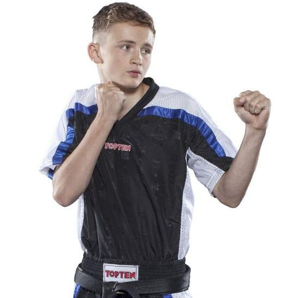 Bilde av TOP TEN Mesh Kickboxing Overdel - Svart/Blå