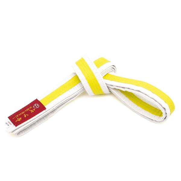 Bilde av HAYASHI Hvitt Belte med gul stripe