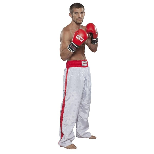 Bilde av TOP TEN Classic Kickboxingbukse - Hvit/Rød