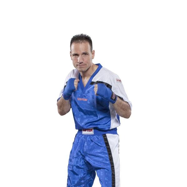 Bilde av TOP TEN Mesh Kickboxing Overdel - Blå/Hvit