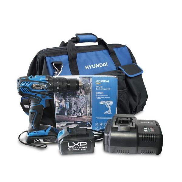 Bilde av Hyundai HY-COMBO-1-2  Slagdrill + batteri + lader