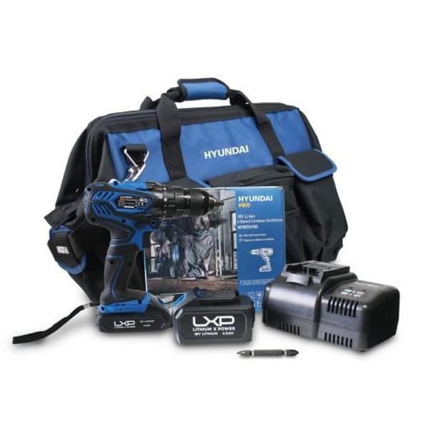 Bilde av Hyundai Drill sett  2Ah Batteri + lader + Bag