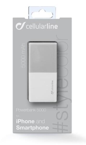Bilde av Cellularline MOBIL POWERBANK USB 5000 mAh HVIT