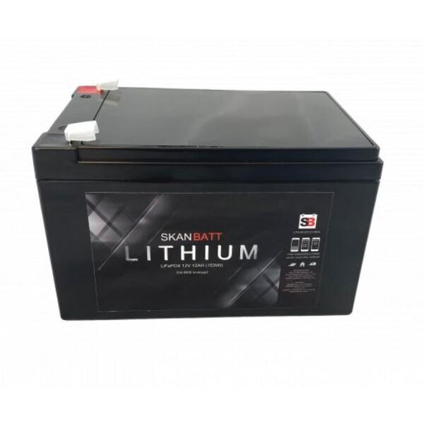 Bilde av SKANBATT Bluetooth Lithium Batteri 12V 12AH 30A