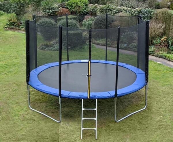 Bilde av TopDesign trampoline med beskyttelsesnett og