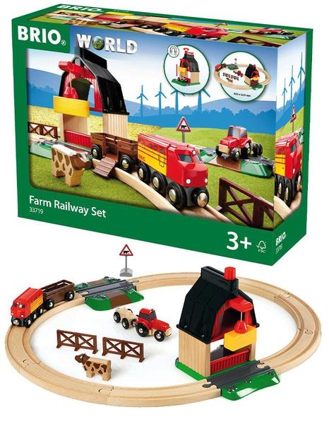 Bilde av BRIO Bondegård - togbane med 20 deler 33719