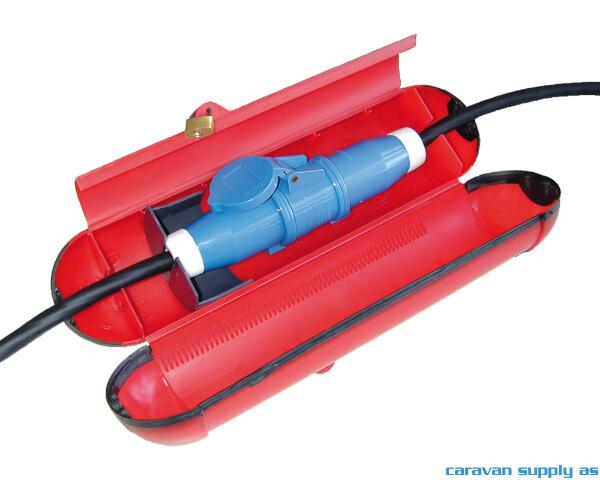 Bilde av Kabelboks m/lås vanntett rød