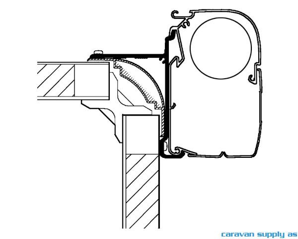 Bilde av Feste Omnistor 5/8-serie High Top adapter 400cm