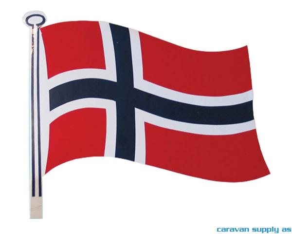 Bilde av Klistremerke flagg liten 12x15cm 2stk