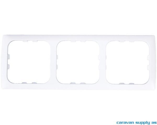 Bilde av Ramme til 3 brytere C-Line 60x170mm hvit