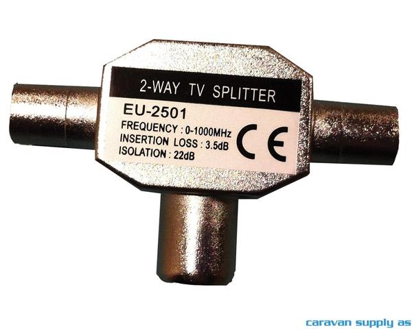 Bilde av Split 2-way til koaxplugg u/DC-pass
