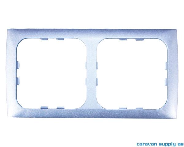 Bilde av Ramme til 2 brytere C-Line 60x120mm sølv