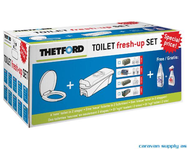 Bilde av Fresh-Up Set Thetford C400 med hjul og håndtak