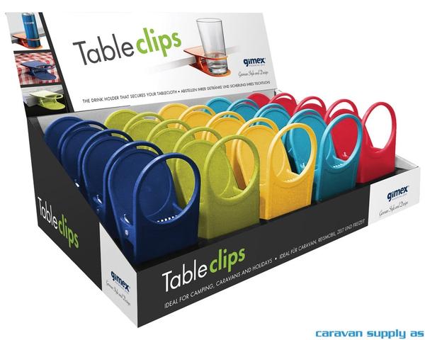 Bilde av Glass/koppholder Gimex TableClips display