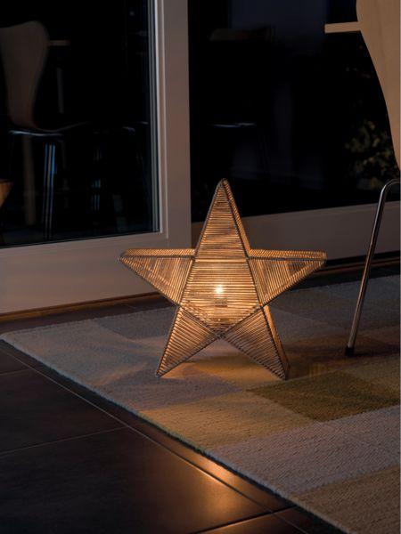 Bilde av Konstsmide adventsstjerne 40x40 cm beige garn