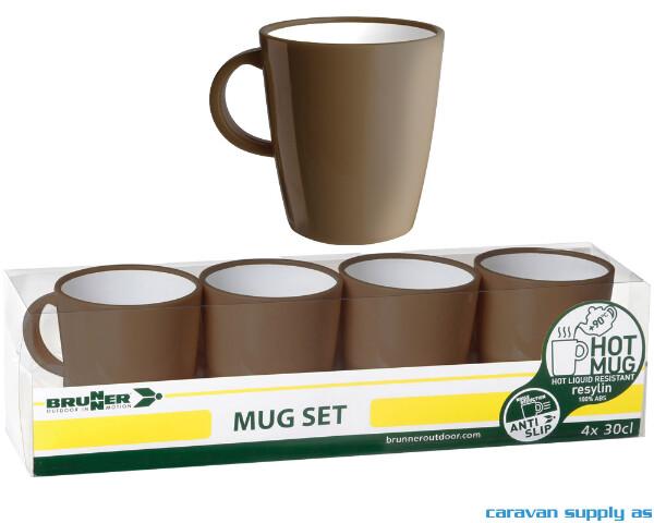 Bilde av Krus Brunner Hot Mug Chocolate mørkbrun 4stk