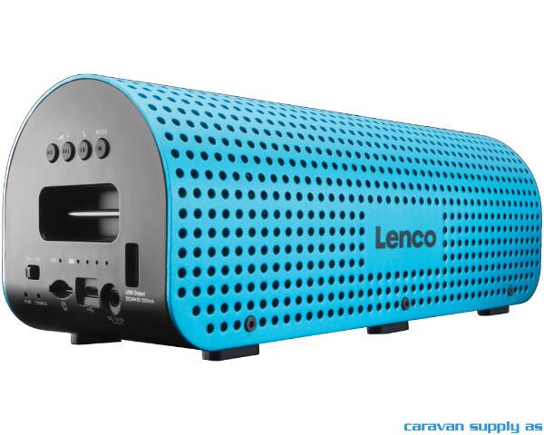 Bilde av Høyttaler Lenco Grid-7 blåtann m/skulderreim blå
