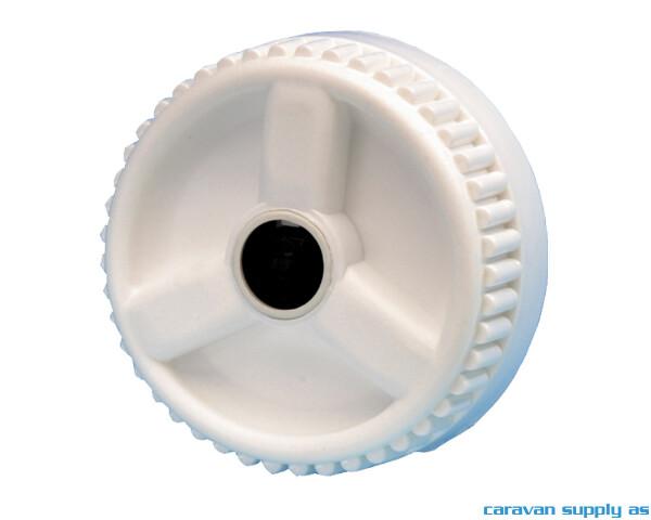 Bilde av Skrulokk til vannpåfylling H05 m/riller hvit