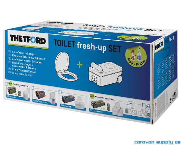 Bilde av Fresh-Up Set Thetford C2/C3/C4 med hjul og