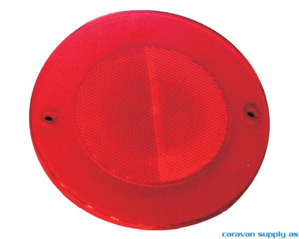 Bilde av Refleks rund Ø72mm selvklebende rød