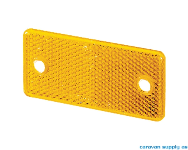 Bilde av Refleks Hella kantet 94x44x6,5mm gul