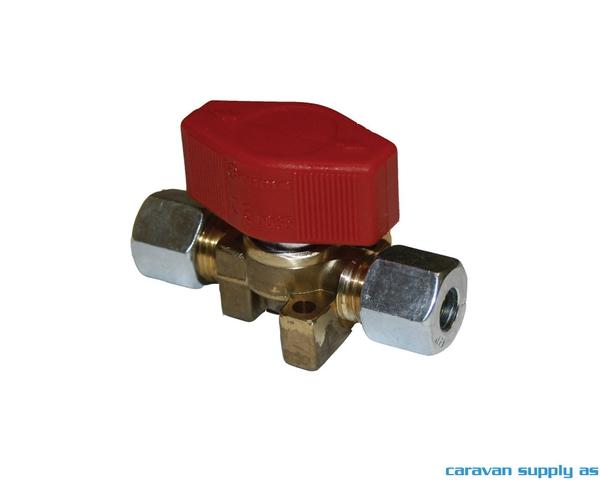 Bilde av Gasskran 8mm m/1 ventil