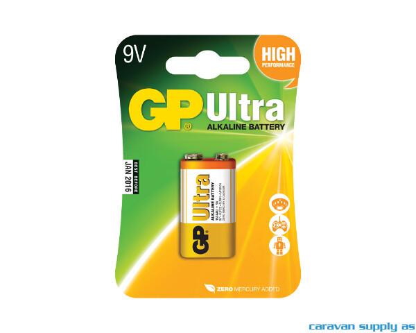 Bilde av Batteri GP Ultra 6LF22/9V alkalisk 9V 1stk