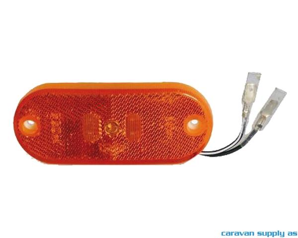 Bilde av Sidemarkeringslys Jokon LED buet m/refleks+kabel