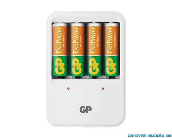 Bilde av Batterilader GP EkoPower 2/4stk AA/AAA inkl.4stk