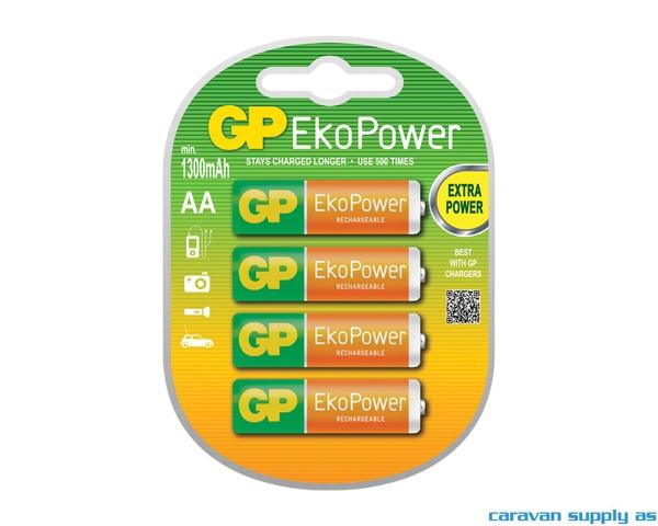 Bilde av Batteri GP EkoPower R6/AA oppladbar 4stk