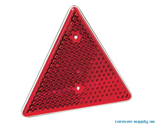 Bilde av Refleks trekant 156x136mm rød 2stk